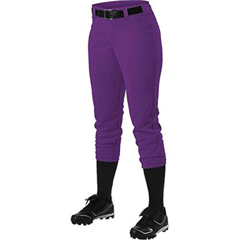 Alleson 605PBWY Girl's Fastpitch Pant - Purple