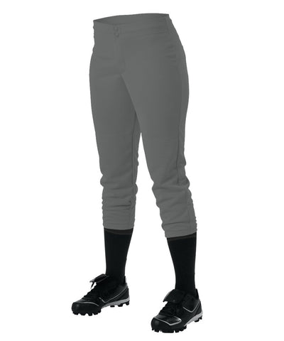 Alleson 605PLWY Girl's Kicker Fastpitch Pant - Charcoal