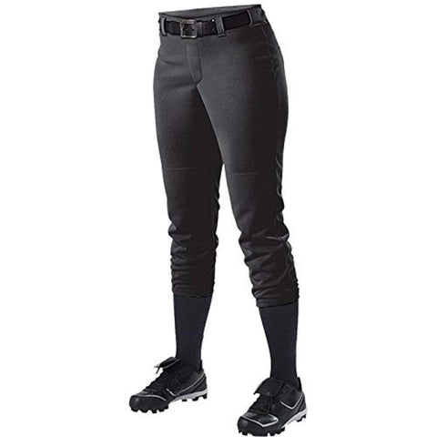 Alleson 605PBWY Girl's Fastpitch Pant - Black