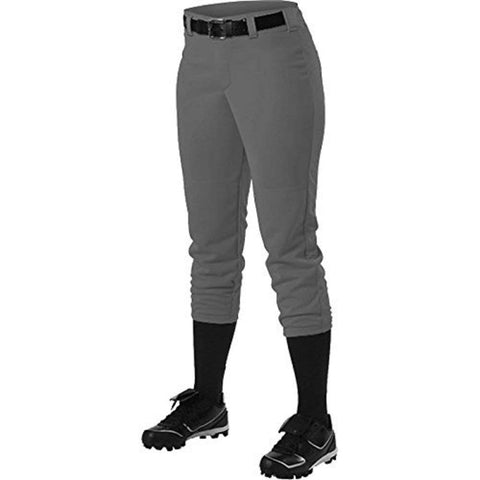 Alleson 605PBWY Girl's Fastpitch Pant - Charcoal