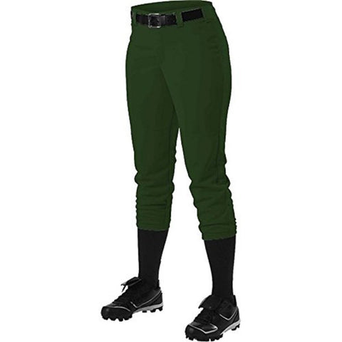 Alleson 605PBWY Girl's Fastpitch Pant - Forest