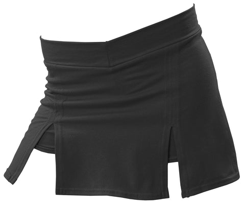 Pizzazz A-Line Cover Stitch Skirt with Boys Brief - Black Fuchsia
