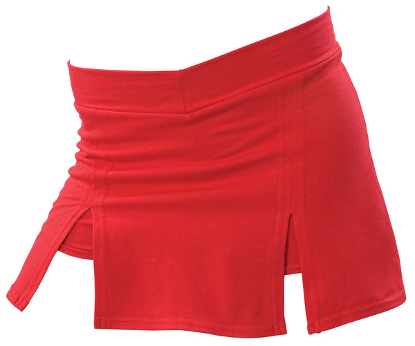Pizzazz A-Line Cover Stitch Skirt with Boys Brief - Red
