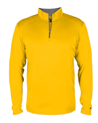 Badger 4102 B-Core 1/4 Zip - Gold Graphite - Outerwear - Hit A Double