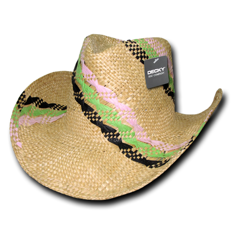 Lunada Bay 521 Hillary Yellow Straw Cowboy Hat - Natural - HIT A Double