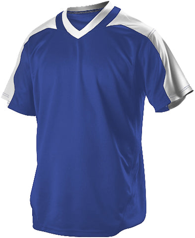 Alleson 521VNA Adult Vneck Baseball Jersey - Royal White