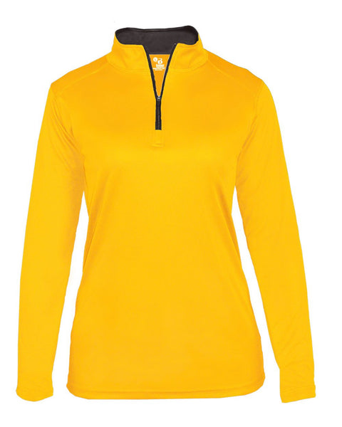Badger 4103 B-Core Ladies 1/4 Zip - Gold Graphite - Outerwear - Hit A Double