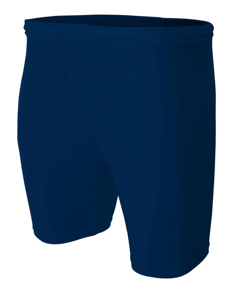 "A4 N5259 8"" Compression Short - Navy - HIT A Double"
