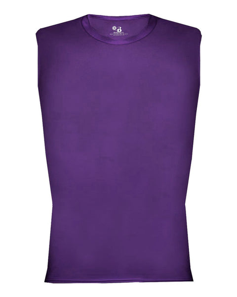 Badger 4631 Pro-compression Sleeveless - Purple - Compression, Football - Hit A Double