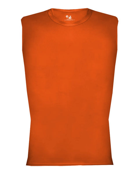 Badger 4631 Pro-compression Sleeveless - Orange - Compression, Football - Hit A Double