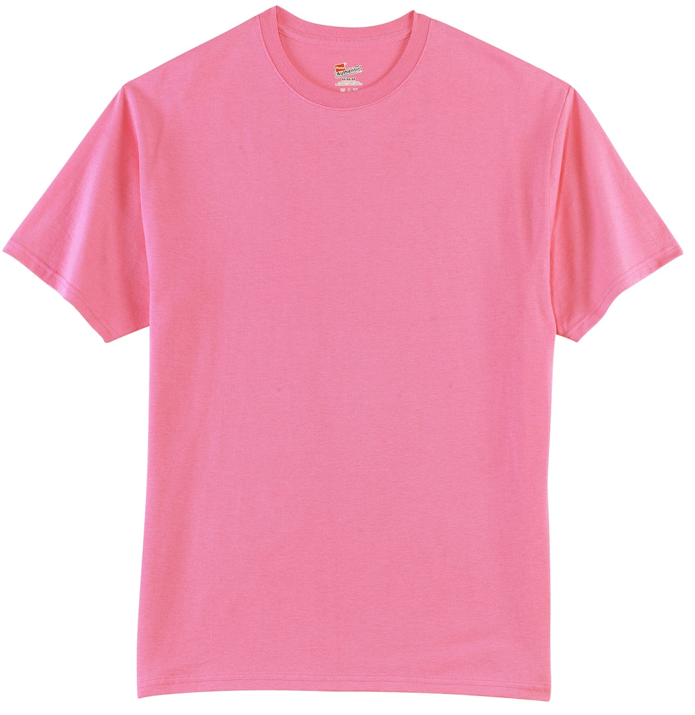 Hanes 5250 Tagless 100% Cotton T-Shirt - Pink - HIT A Double