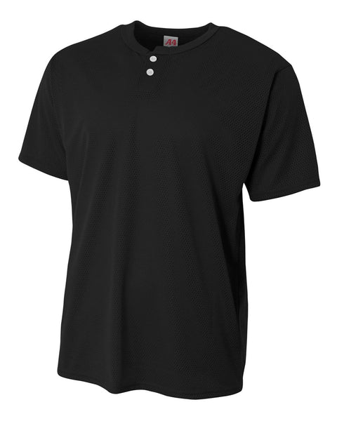 A4 N4130 Adult Mesh Henley - Black - HIT A Double