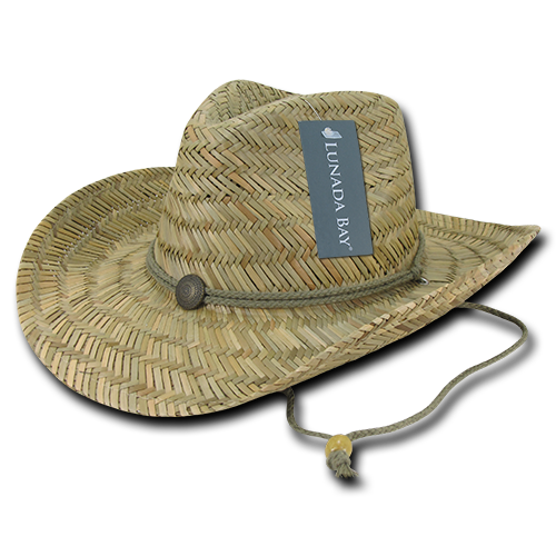 Lunada Bay 526 Straw Cowboy Hat - Natural - HIT A Double
