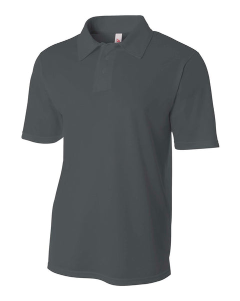A4 N3262 Textured Performance Polo - Graphite