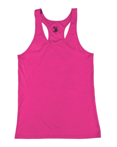 Badger 2166 B-Core Girls Racerback Tank - Hot Pink - Training/Running, Fanwear - Hit A Double