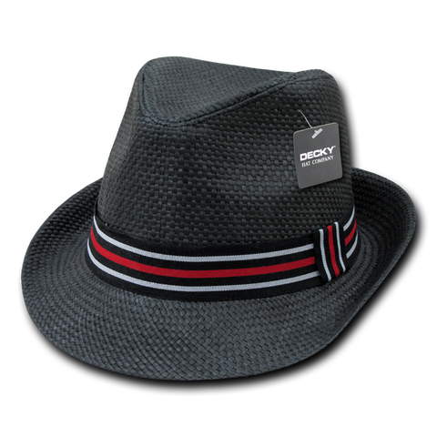 Lunada Bay 530 Paper Straw Fedora - Black - HIT A Double