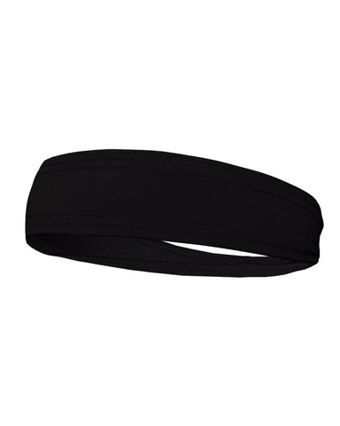 Badger 0300 Head Band - Black - Baseball Apparel, Softball Apparel, Band, Basketball, Bowling, Cheerleading, Football, Golf, Lacrosse/Field Hockey, Soccer, Training/Running, Volleyball Accessories, Fanwear - Hit A Double