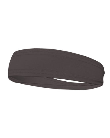 Badger 0300 Head Band - Graphite - Baseball Apparel, Softball Apparel, Band, Basketball, Bowling, Cheerleading, Football, Golf, Lacrosse/Field Hockey, Soccer, Training/Running, Volleyball Accessories, Fanwear - Hit A Double