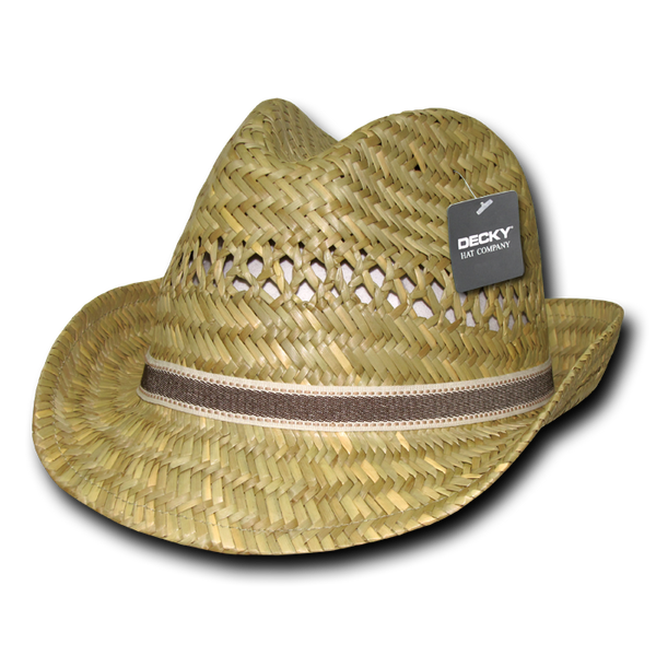 Lunada Bay 531 Mat Straw Woven Fedora - Natural - HIT A Double