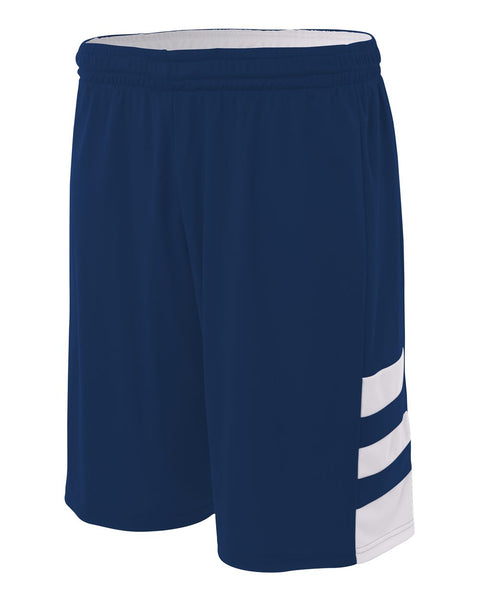 "A4 N5334 10"" Reversible Speedway Short - Navy White"