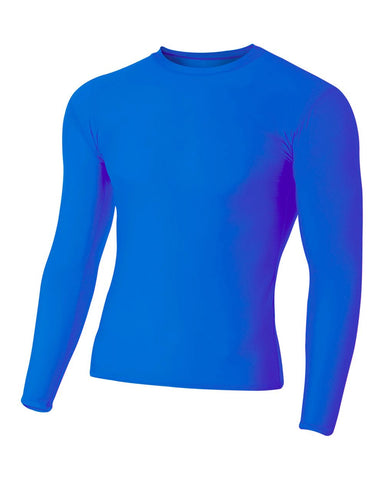 A4 N3133 Long Sleeve Compression Crew - Royal