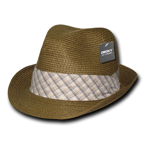Lunada Bay 533 Paper Braid Woven Fedora - Brown - HIT A Double