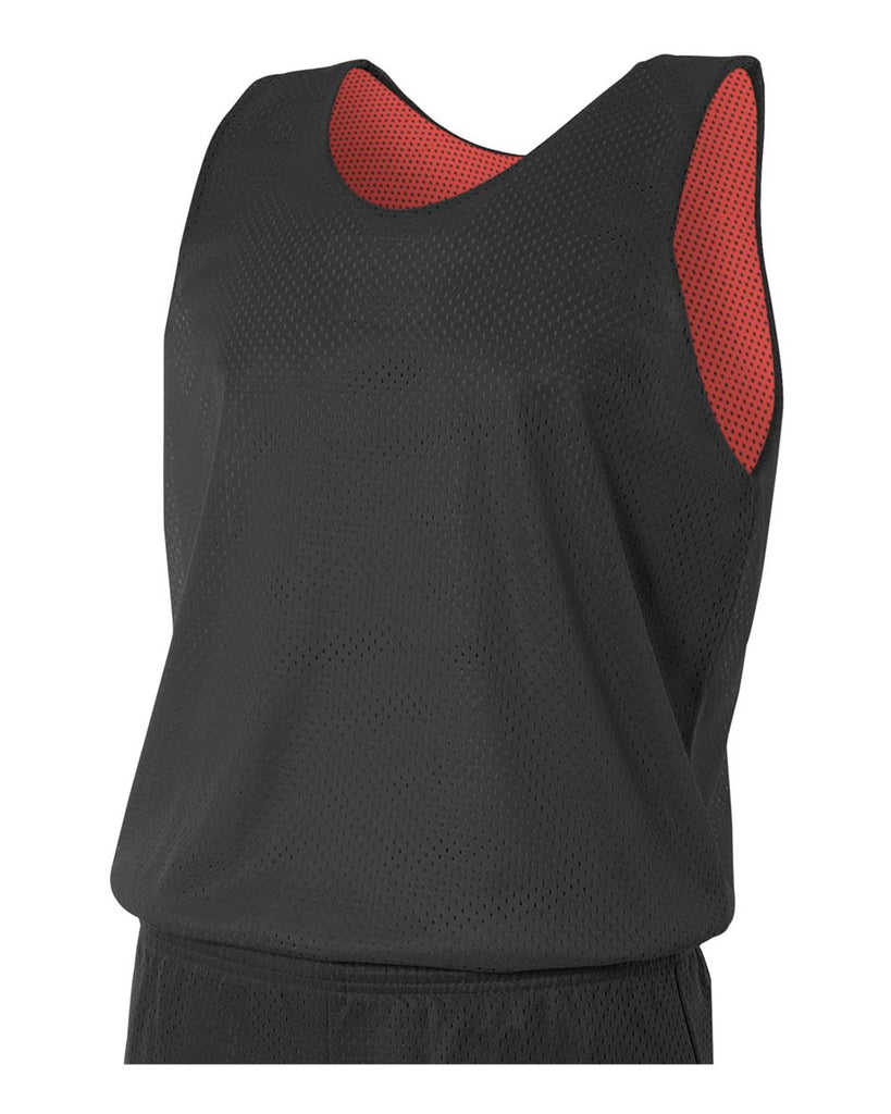 e19ebe5c170b A4 N2206 Youth Reversible Mesh Tank - Black Red– HIT A Double