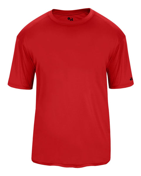 Badger 2020 Ultimate Softlock Youth Tee - Red - Baseball Apparel, Softball Apparel, Football, Soccer, Tennis, Lacrosse/Field Hockey, Band, Bowling, Training/Running, Fanwear - Hit A Double