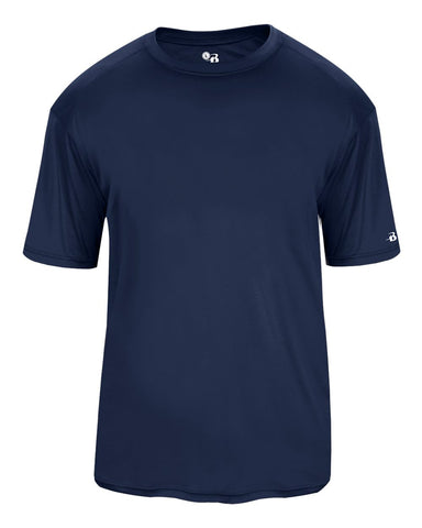 Badger 2020 Ultimate Softlock Youth Tee - Navy - Baseball Apparel, Softball Apparel, Football, Soccer, Tennis, Lacrosse/Field Hockey, Band, Bowling, Training/Running, Fanwear - Hit A Double