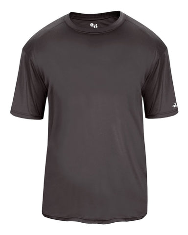 Badger 2020 Ultimate Softlock Youth Tee - Graphite - Baseball Apparel, Softball Apparel, Football, Soccer, Tennis, Lacrosse/Field Hockey, Band, Bowling, Training/Running, Fanwear - Hit A Double