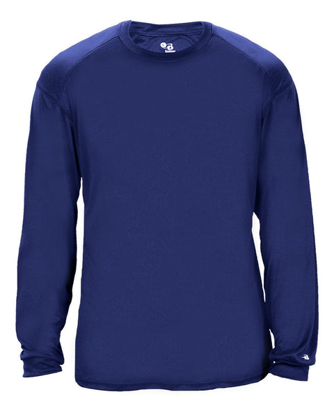 Badger 2004 Ultimate Softlock Youth Long Sleeve Tee - Royal - Baseball Apparel, Softball Apparel, Football, Soccer, Tennis, Lacrosse/Field Hockey, Band, Bowling, Training/Running, Casual Wear - Hit A Double - 1