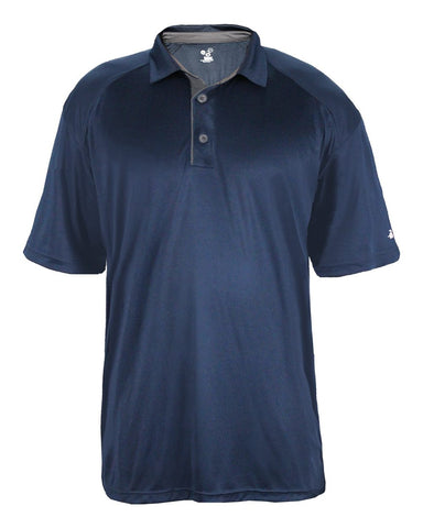 Badger 4040 Ultimate Softlock Polo - Navy Graphite - Band, Bowling, Fanwear, Golf - Hit A Double