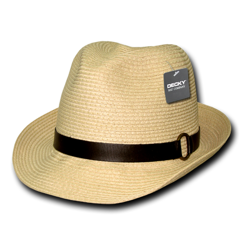Lunada Bay 536 Paper Braid Woven fedora - Natural - HIT A Double