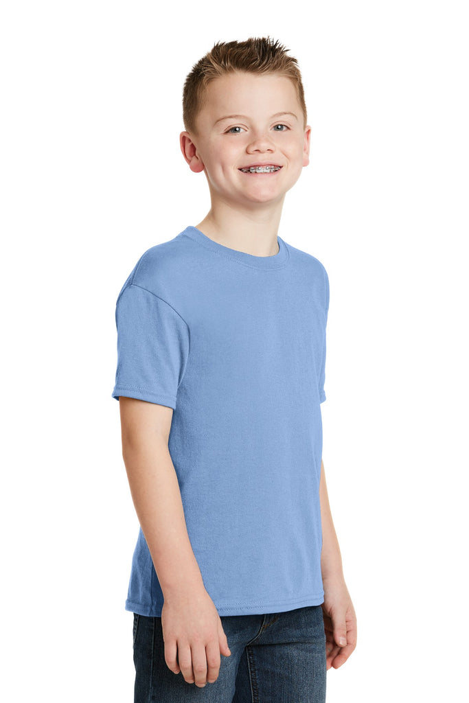 Hanes 5370 Youth Ecosmart 50/50 Cotton/Poly T-Shirt - Light Blue - HIT A Double