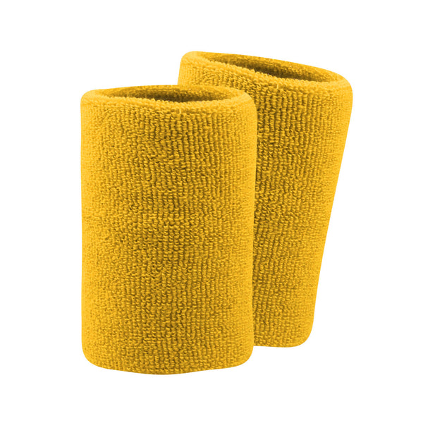 "Twin City Pro Wristbands 5.5"" - Gold"