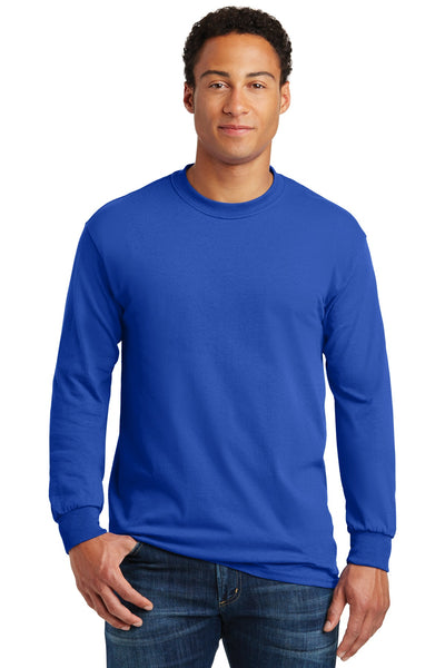 Gildan 5400 Heavy Cotton 100% Cotton Long Sleeve T-Shirt - Royal