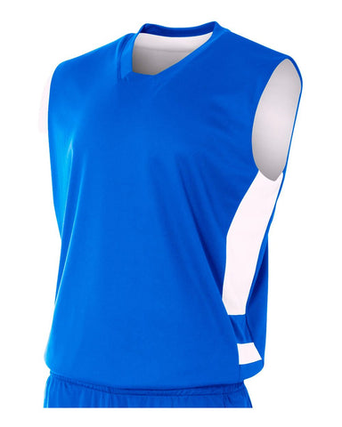 A4 N2349 Reversible Speedway Muscle - Royal White
