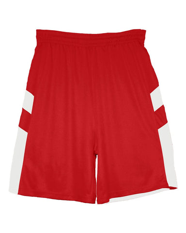 Badger 2266 B-Pivot Reversible Youth Short - Red White - Basketball - Hit A Double