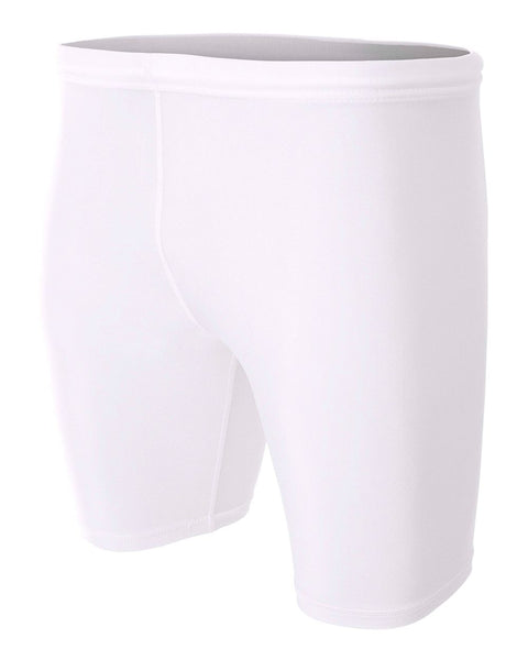 "A4 N5259 8"" Compression Short - White - HIT A Double"