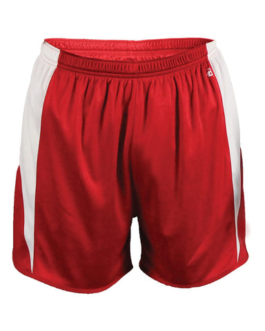Badger 2273 Stride Youth Short - Red White - Training/Running - Hit A Double