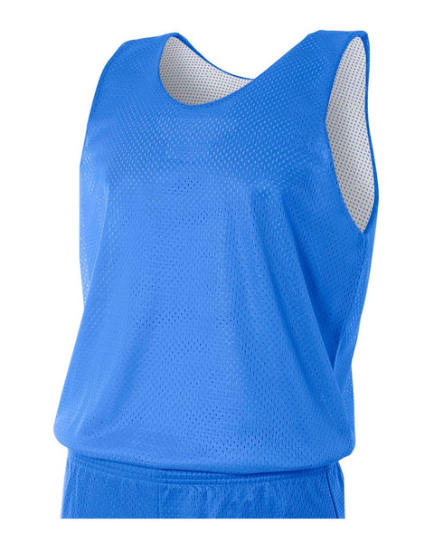 A4 N2206 Youth Reversible Mesh Tank - Royal White