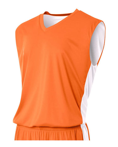 A4 N2320 Reversible Moisture Management Muscle - Orange White