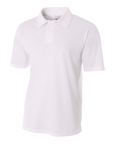A4 N3262 Textured Performance Polo - White