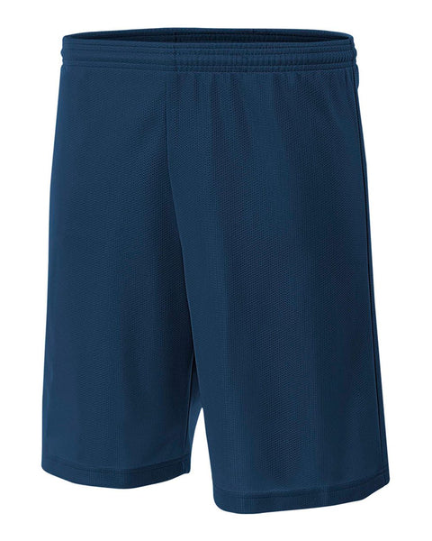 "A4 NB5184 Youth 6"" Lined Micromesh Shorts - Navy"
