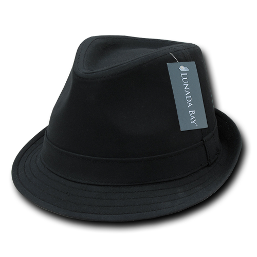 Lunada Bay 553 Basic Poly Woven Fedora - Black - HIT A Double