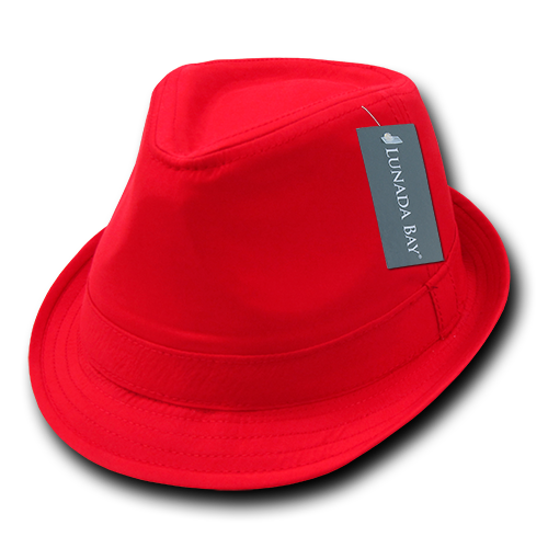 Lunada Bay 553 Basic Poly Woven Fedora - Red - HIT A Double