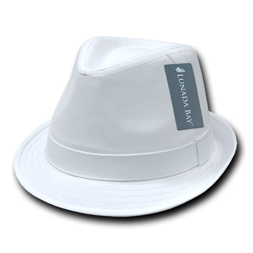 Lunada Bay 553 Basic Poly Woven Fedora - White - HIT A Double