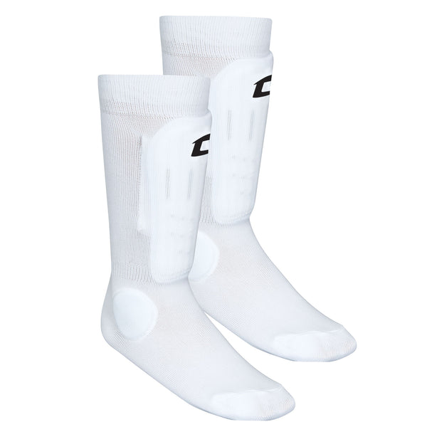 CHAMPRO Sock Style Shin Guard M l White Medium//Large Champro Sports SSG6