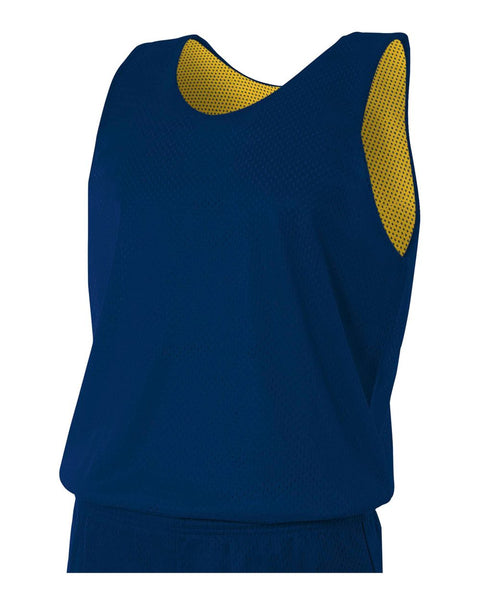 A4 N2206 Youth Reversible Mesh Tank - Navy Gold