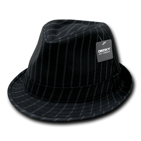 Lunada Bay 554 Double Pinstripe Fedora - Black - HIT A Double